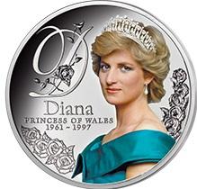 Minnemynt til folkeprinsessen Diana