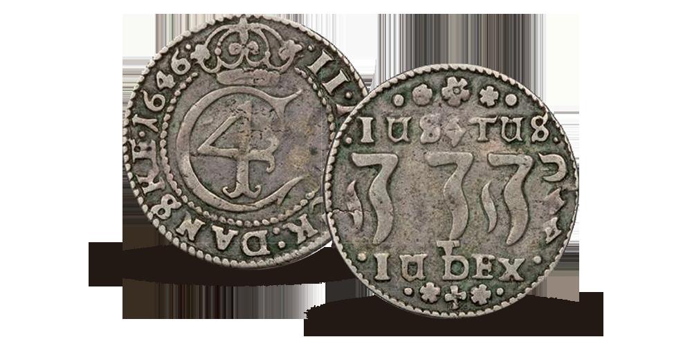 2 mark fra midten av 1640-tallet. Denne markerte Herrens vrede over Sverige