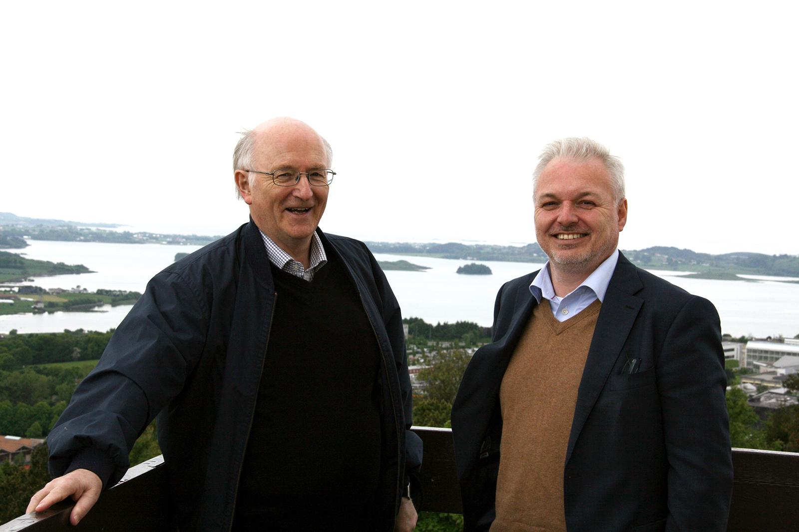 Professor Torgrim Titlestad og Ole Bjørn Fausa