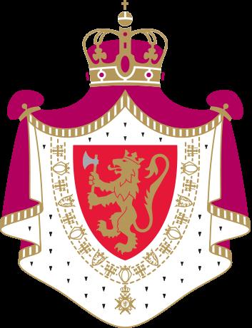 Det norske riksvåpenet i sin formelle utgave