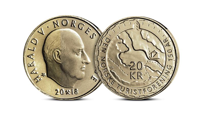 20 kr minnemynt 2018 fra Norges Bank