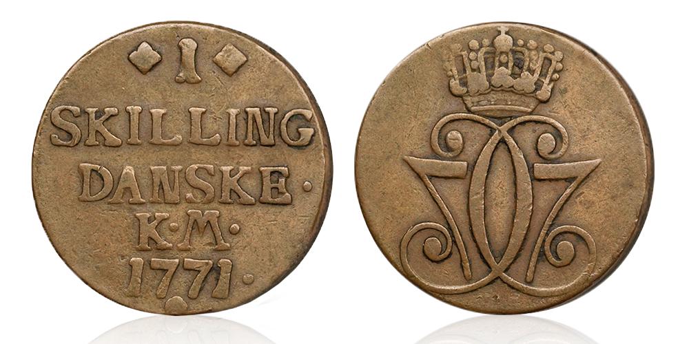 Brennevinsskillingen, mynten som ble preget lenge etter 1771