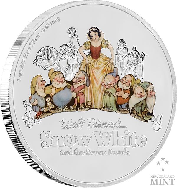 Snøhvit på mynt