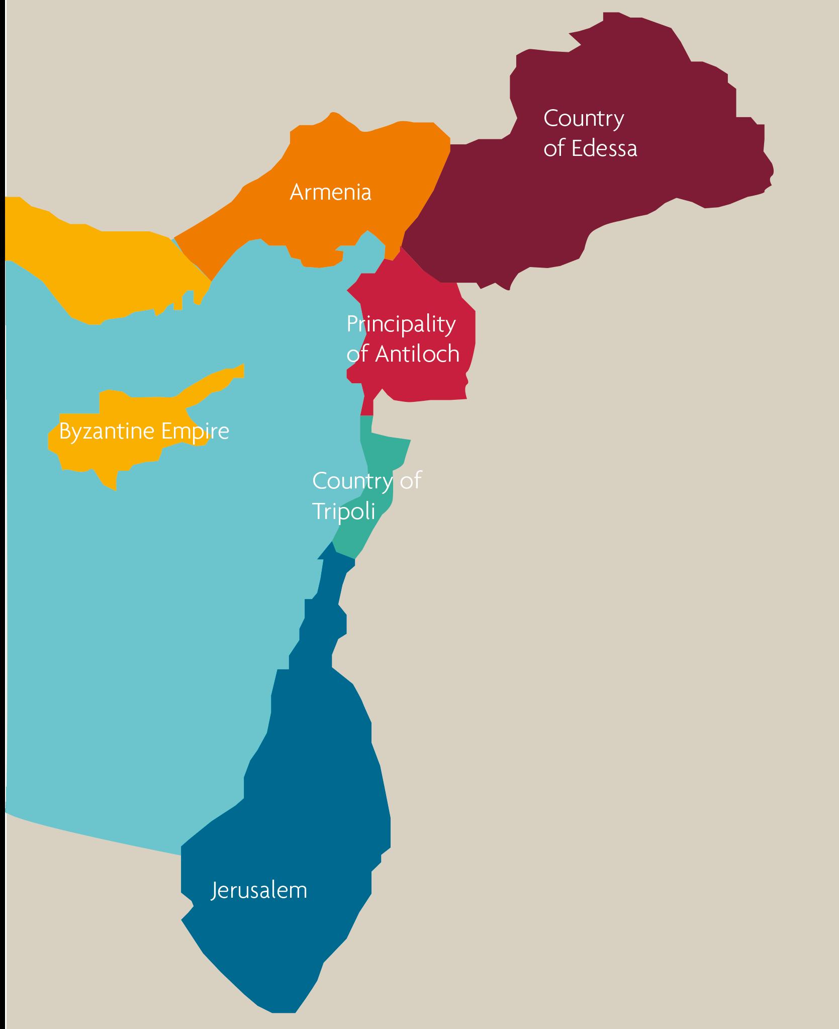 Kart over korstogene