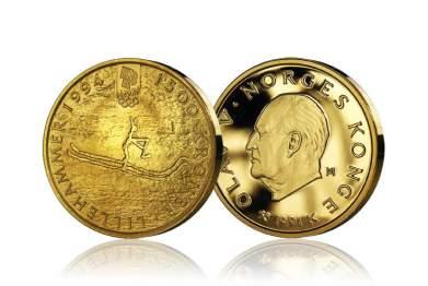 Rødøymannen kom på den første minnemynten i gull.
