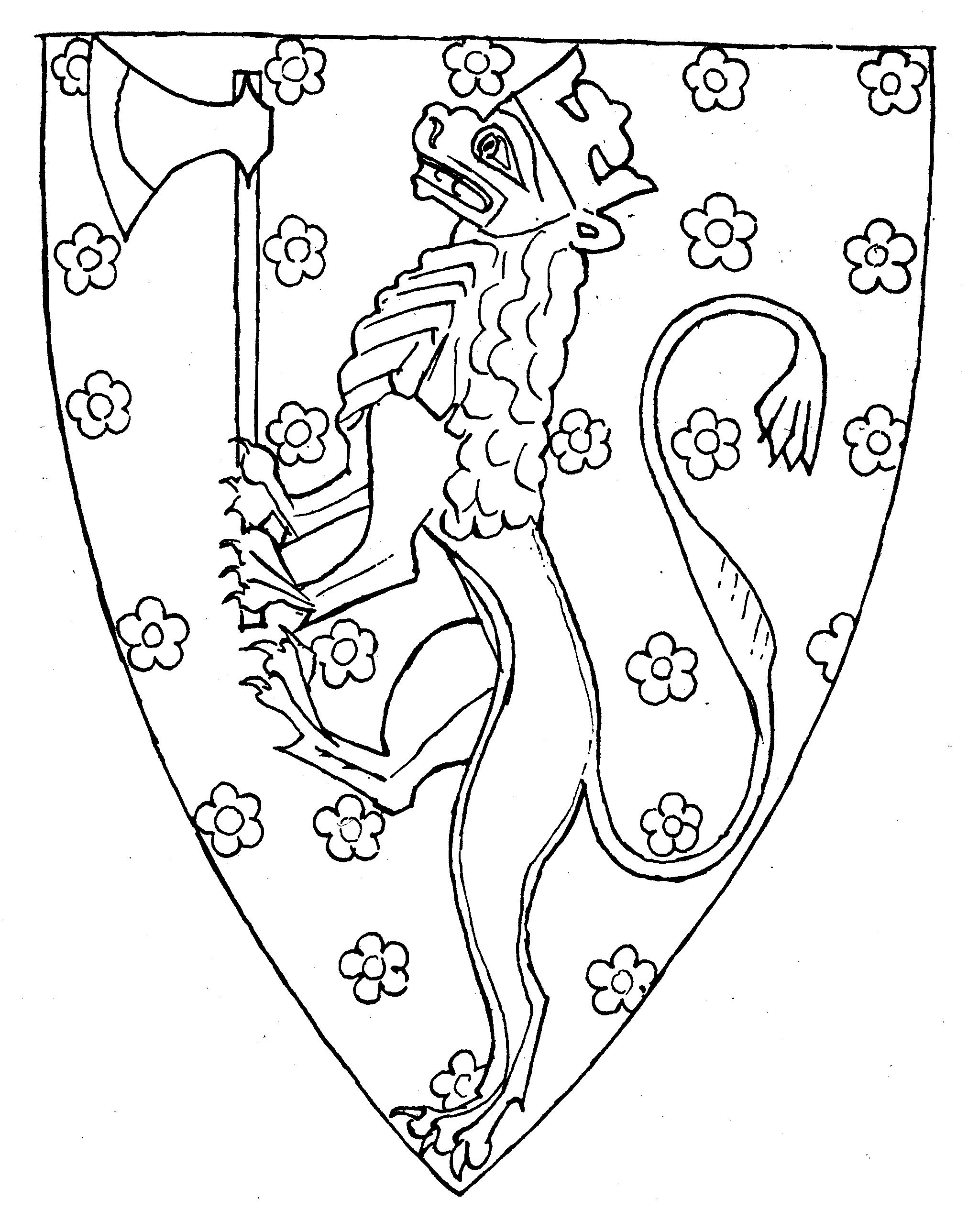 Riksløven meed roser