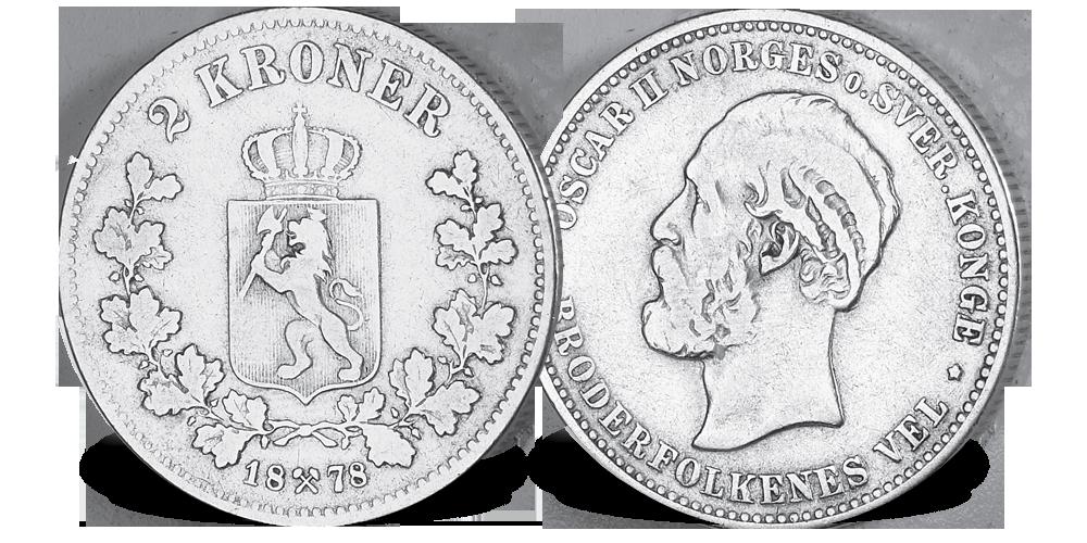 2 kroner 1878